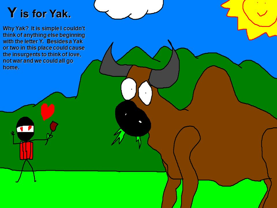 Y is for Yak.