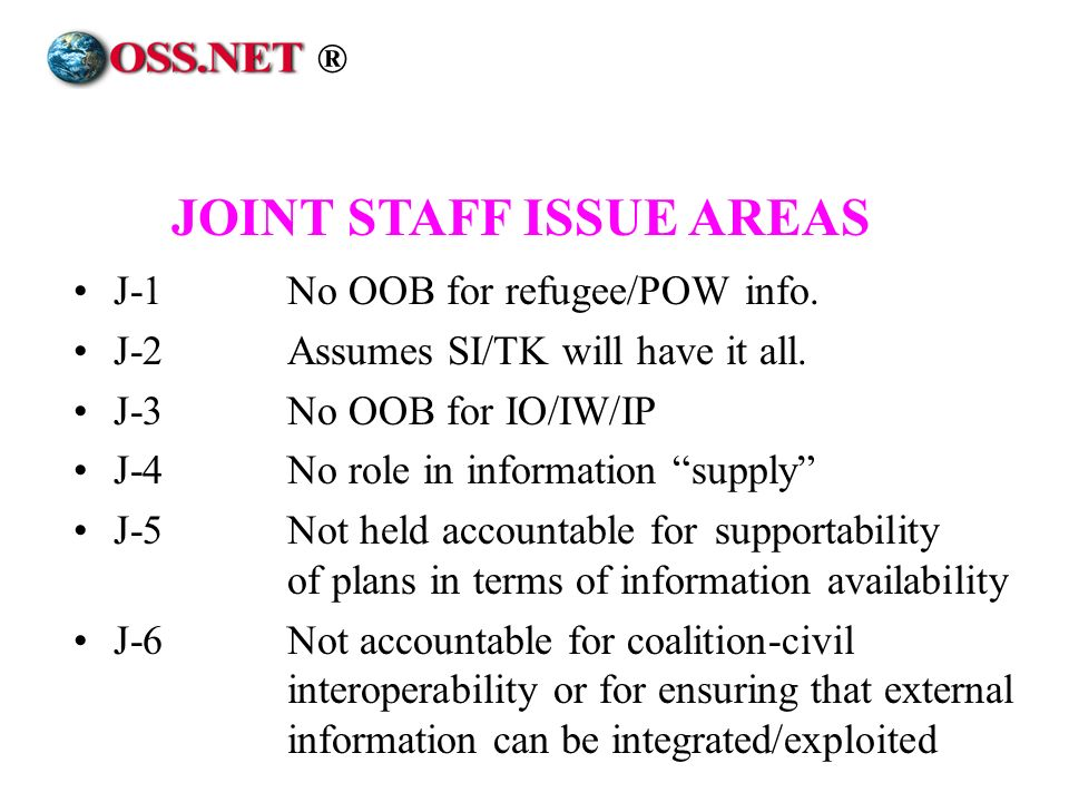 JOINT STAFF ISSUE AREAS