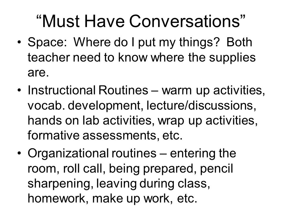 Must Have Conversations