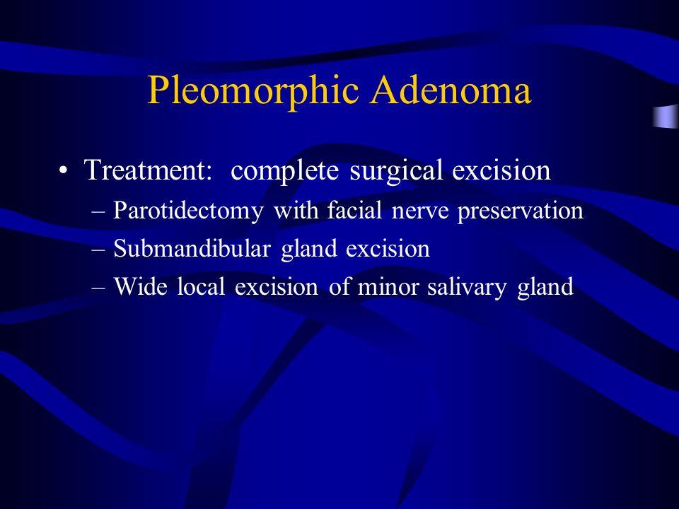 pleomorphic adenoma treatment surgery