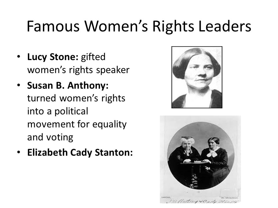 Famous Women's Rights Leaders
