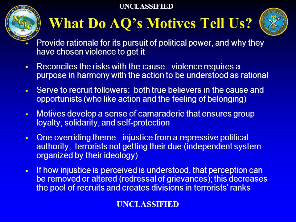 What Do AQ's Motives Tell Us