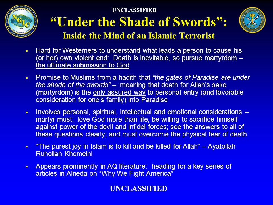 Under the Shade of Swords : Inside the Mind of an Islamic Terrorist