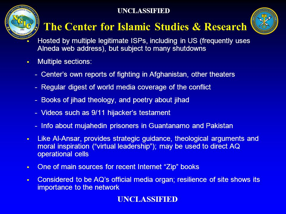 The Center for Islamic Studies & Research
