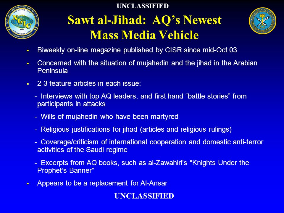 Sawt al-Jihad: AQ's Newest Mass Media Vehicle