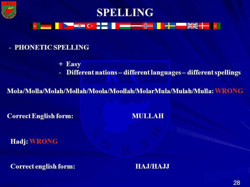 SPELLING PHONETIC SPELLING + Easy
