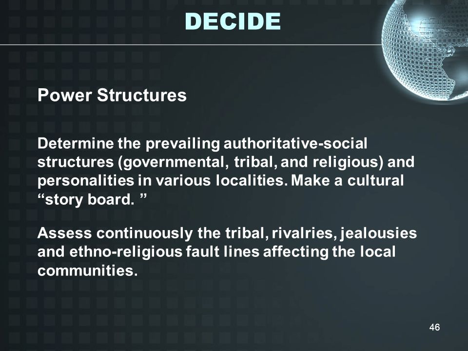 DECIDE Power Structures