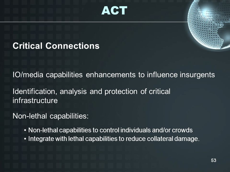 ACT Critical Connections