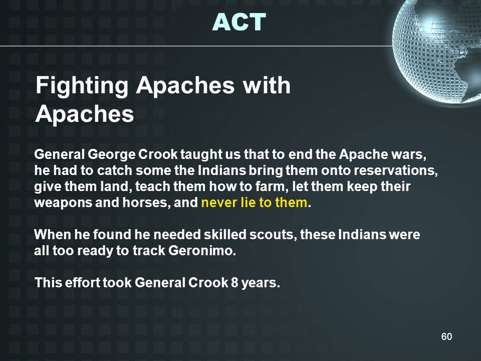 Fighting Apaches with Apaches