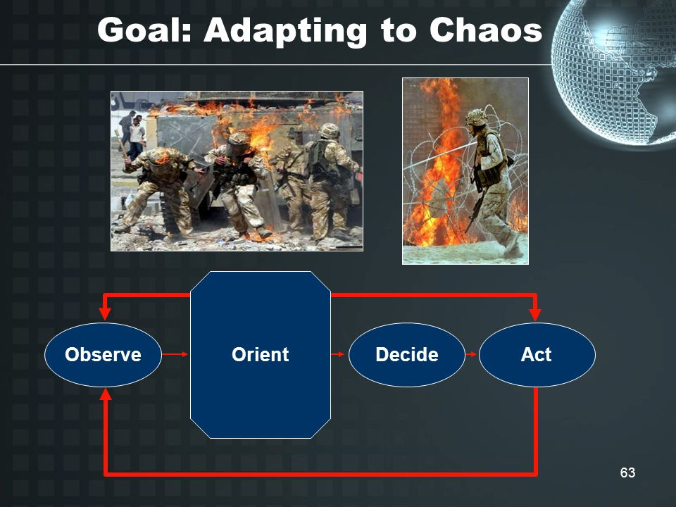 Goal: Adapting to Chaos