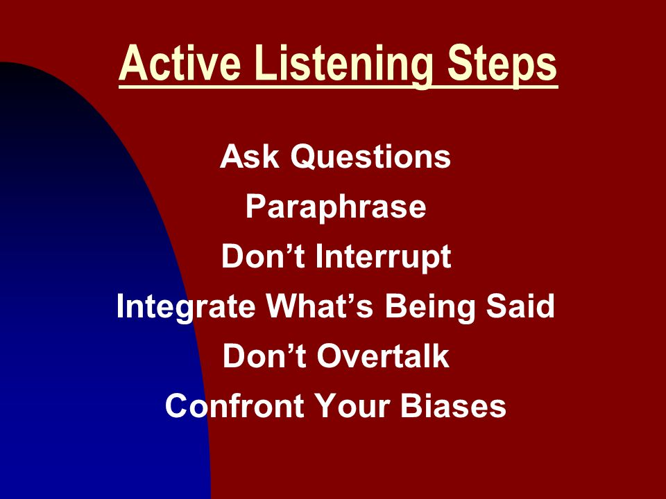 Active Listening Steps