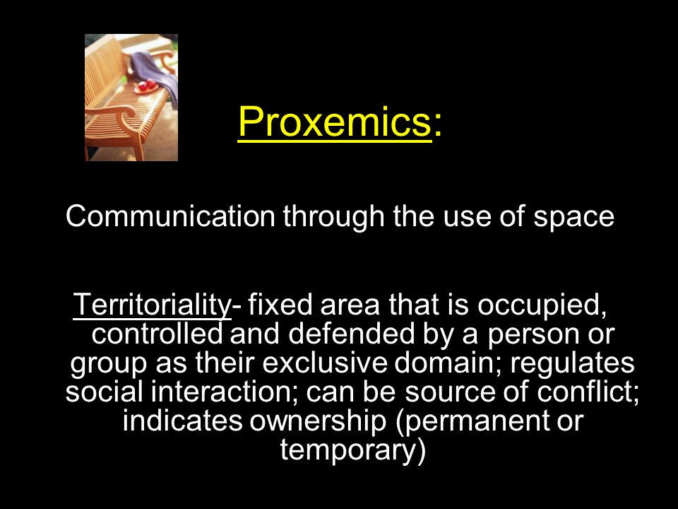 Communication through the use of space