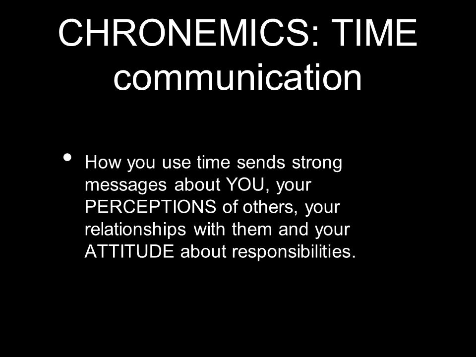 CHRONEMICS: TIME communication