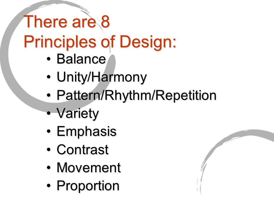 There Are 8 Principles Of Design
