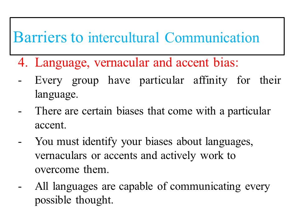 intercultural communication barriers examples