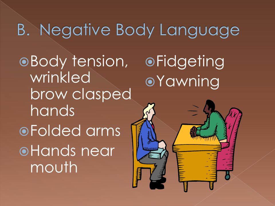 B. Negative Body Language