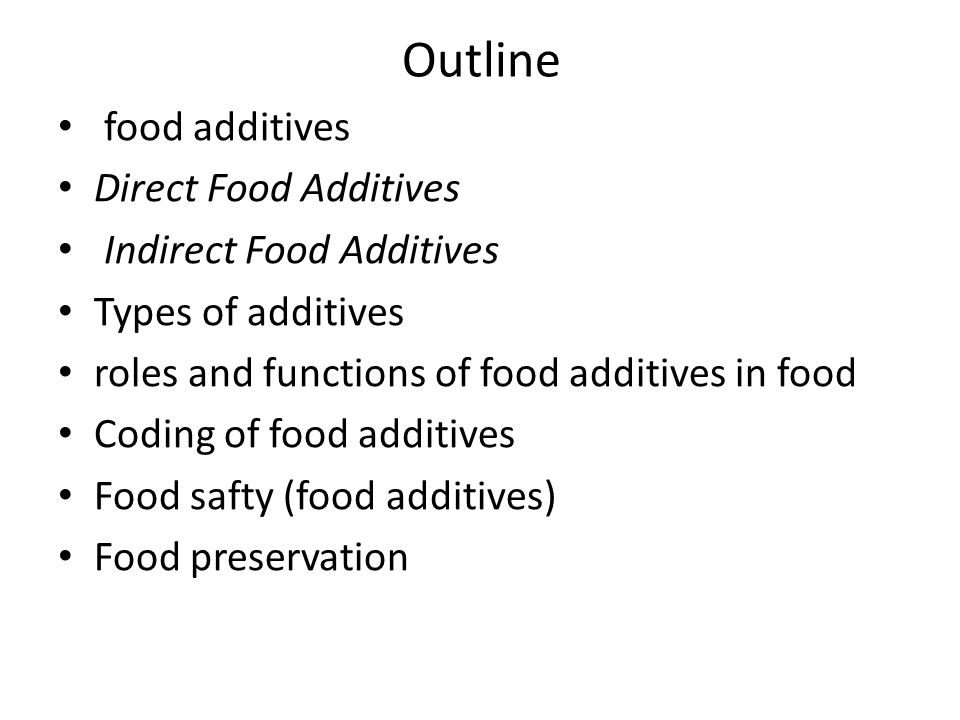 negative effects of food additives