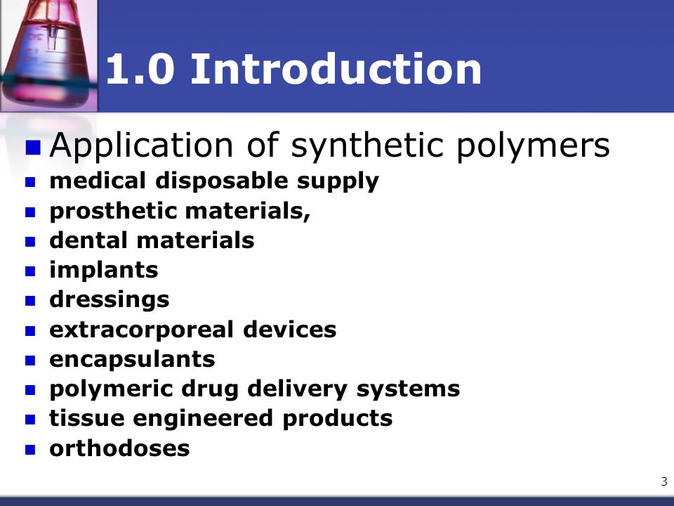 application of polymers