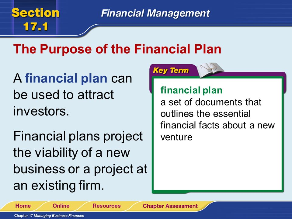 the main idea a financial plan outlines the essential financial