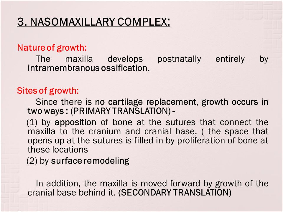 Craniofacial Growth And Development Postnatal Ppt Download Sympases • fibrocartilage • some elastin 1.symphysis mentalis also: craniofacial growth and development