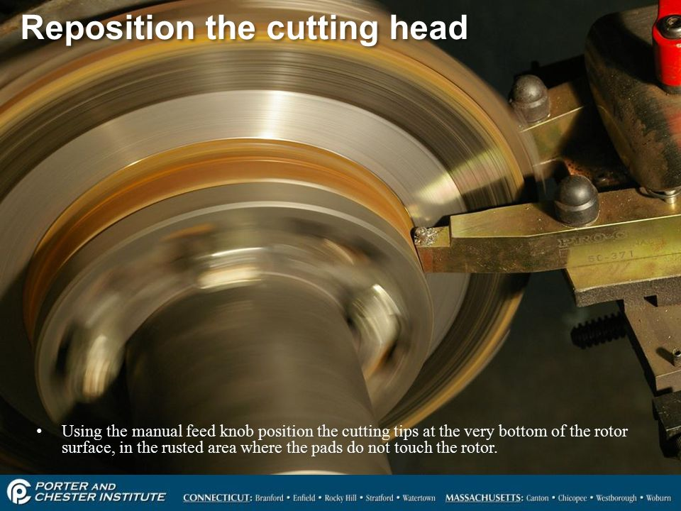 rotor service on car brake lathe ppt video online download rh slideplayer com Turning Rotors Brake Rotor Resurfacing