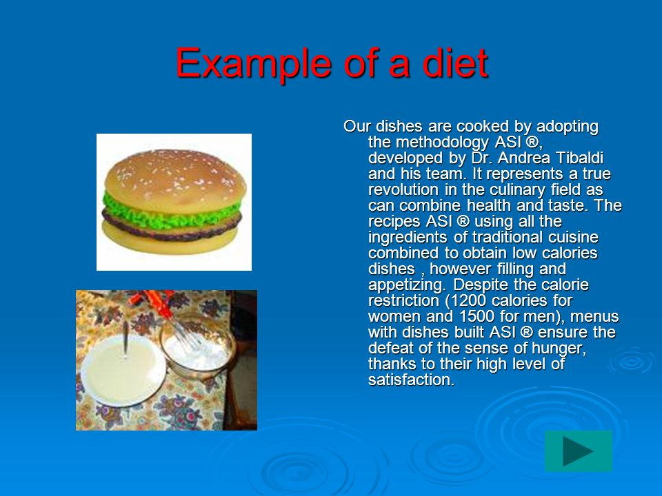 Example of a diet