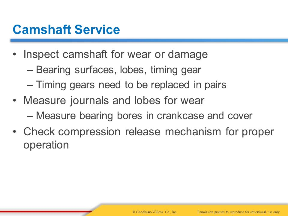 18 Camshaft and Valve Train Service  18 Camshaft and Valve Train