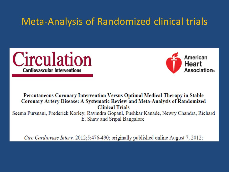 Meta-Analysis of Randomized clinical trials