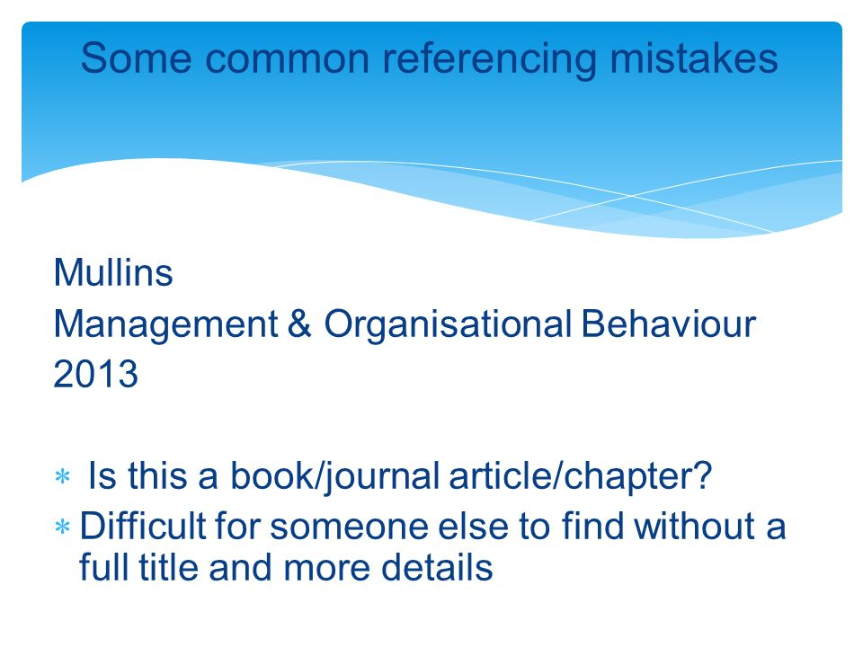 Citing and referencing ppt download some common referencing mistakes ccuart Image collections
