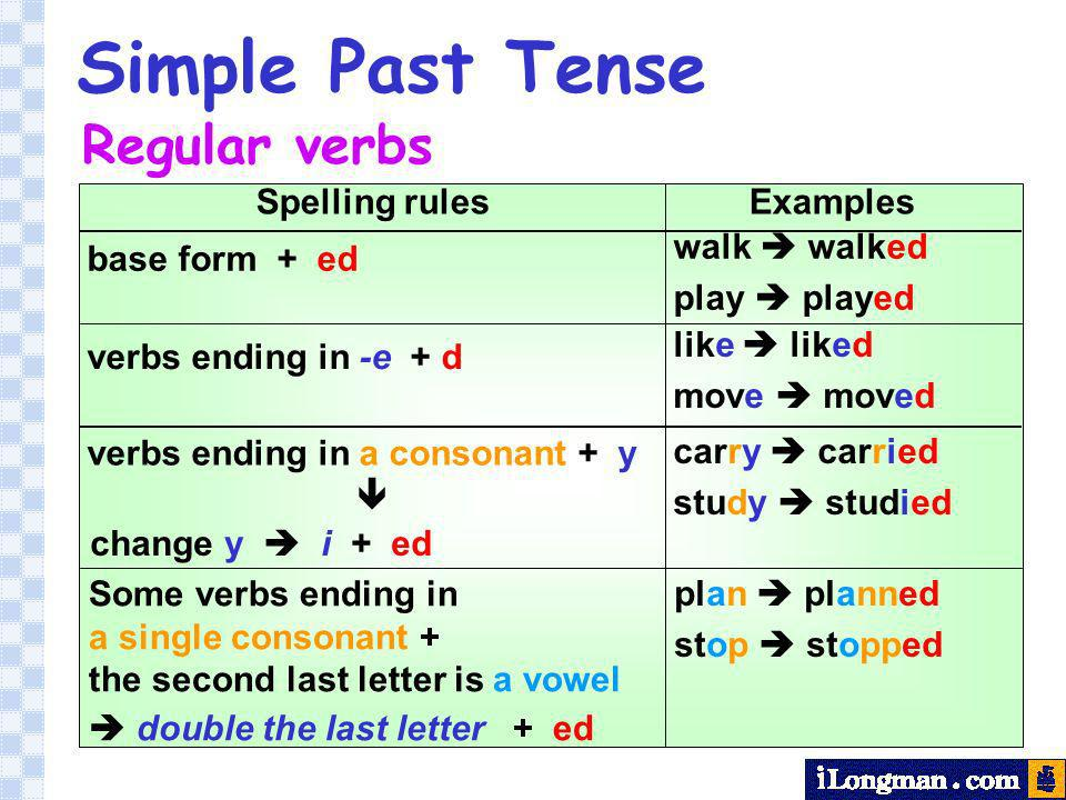 the simple past tense form of the verb begin is