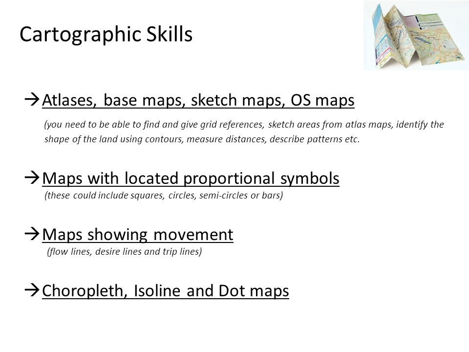 Cartographic Skills Atlases, base maps, sketch maps, OS maps
