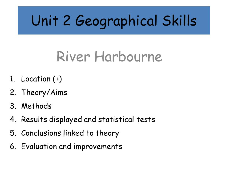 Unit 2 Geographical Skills
