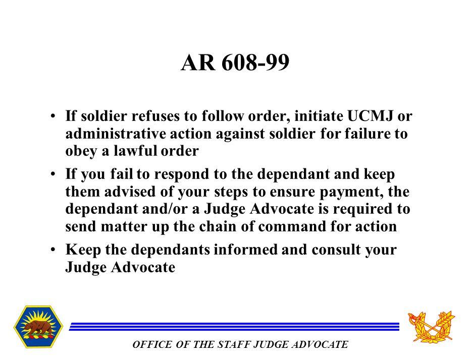 ucmj failure to follow orders
