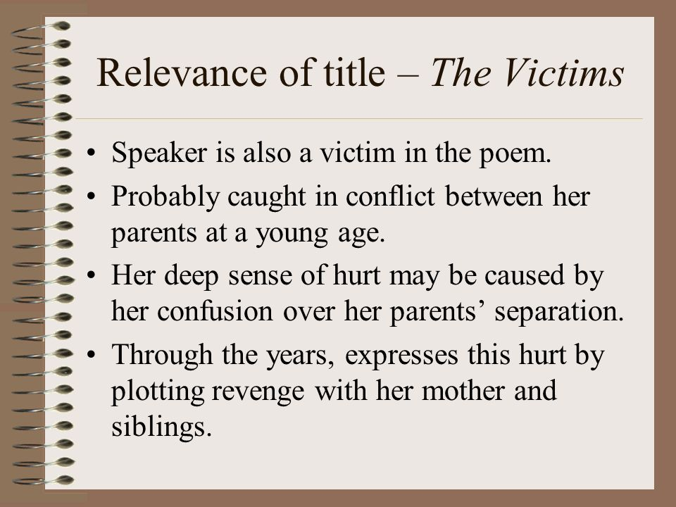 the victims poem