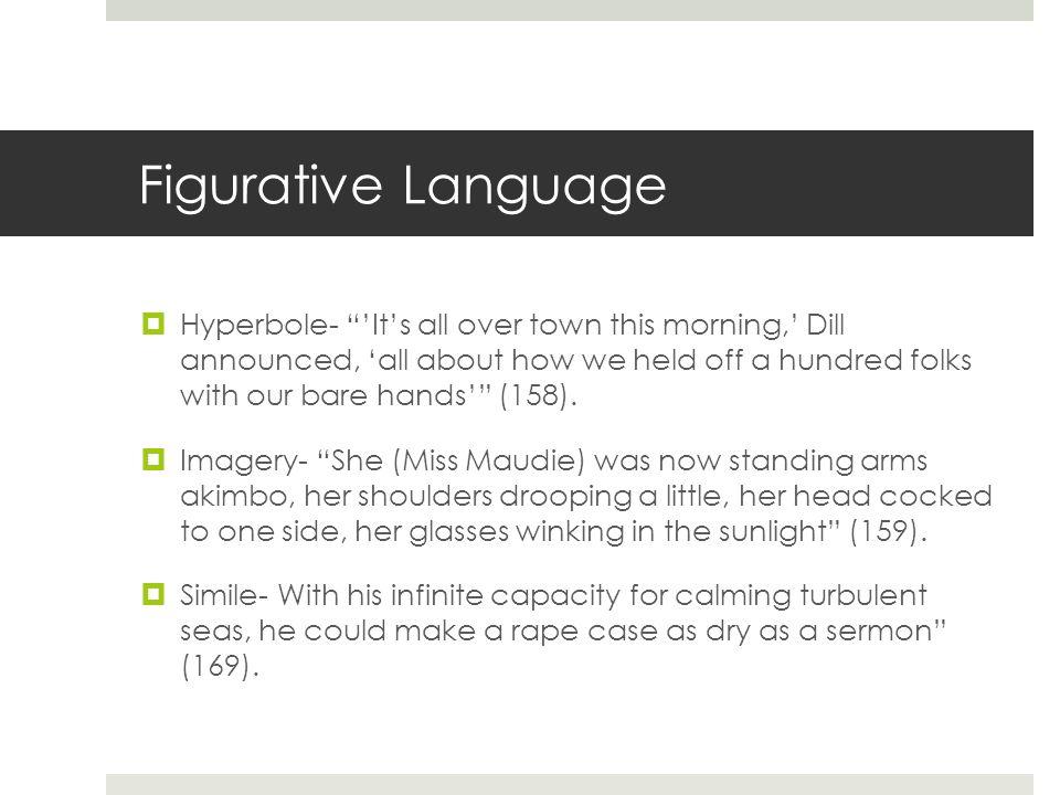 to kill a mockingbird figurative language with page numbers