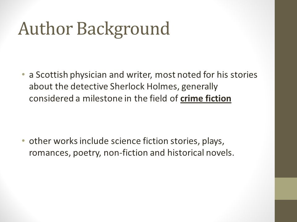 Author Background