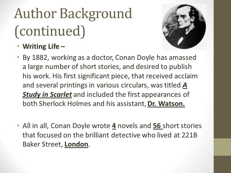 Author Background (continued)