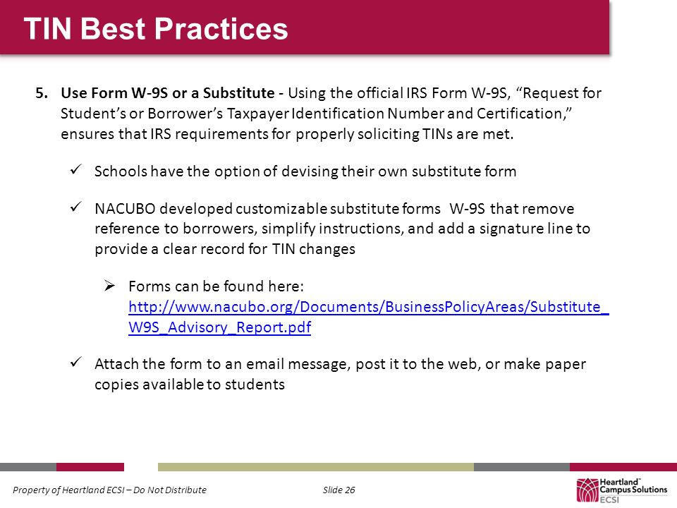 Regulations Update 1098 Ts Tin Validation You Ppt Download