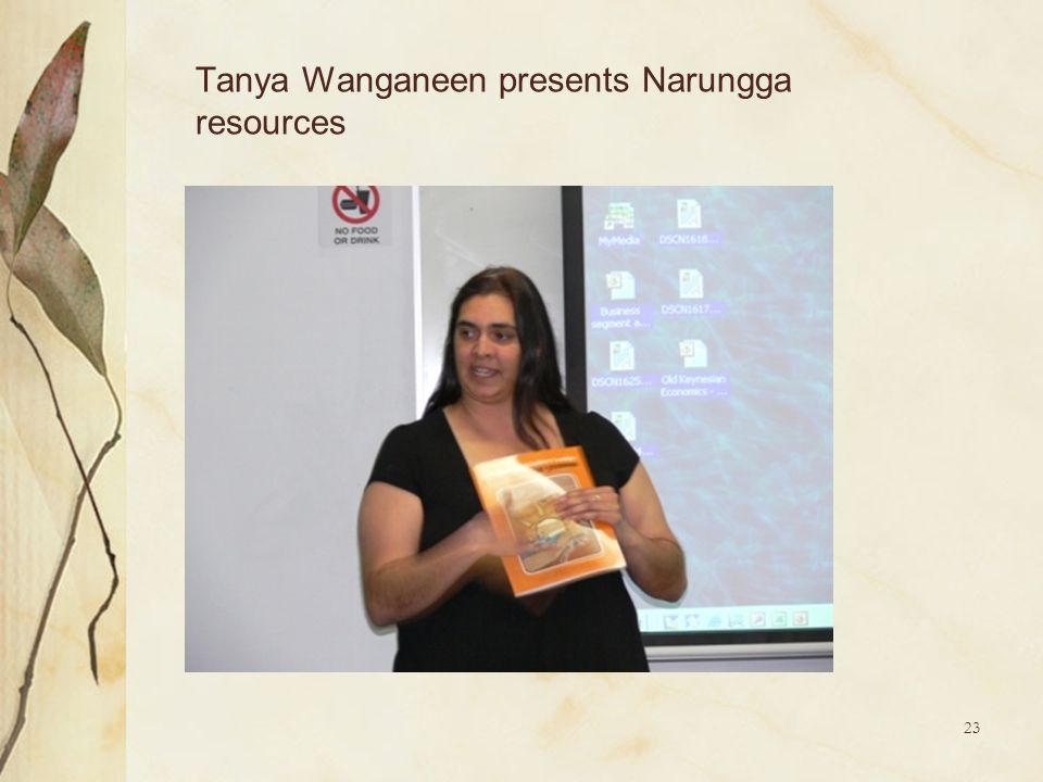 Tanya Wanganeen presents Narungga resources