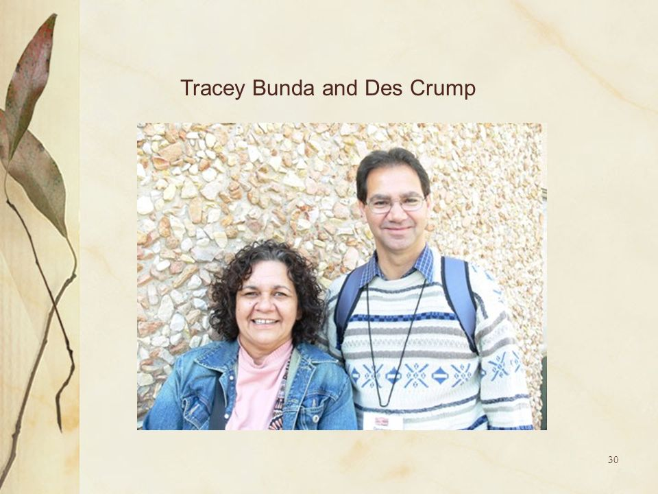 Tracey Bunda and Des Crump