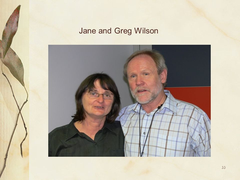 Jane and Greg Wilson