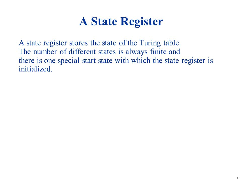 A State Register