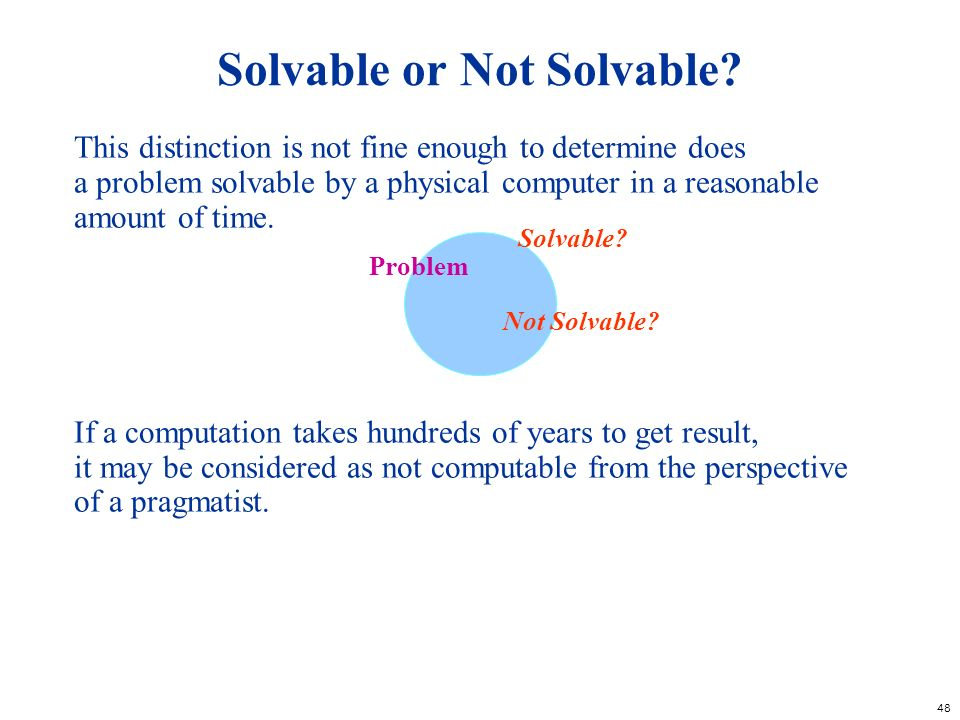Solvable or Not Solvable