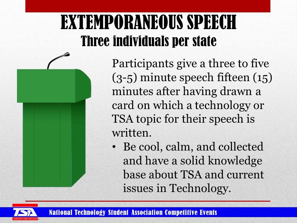 five minute speech topics