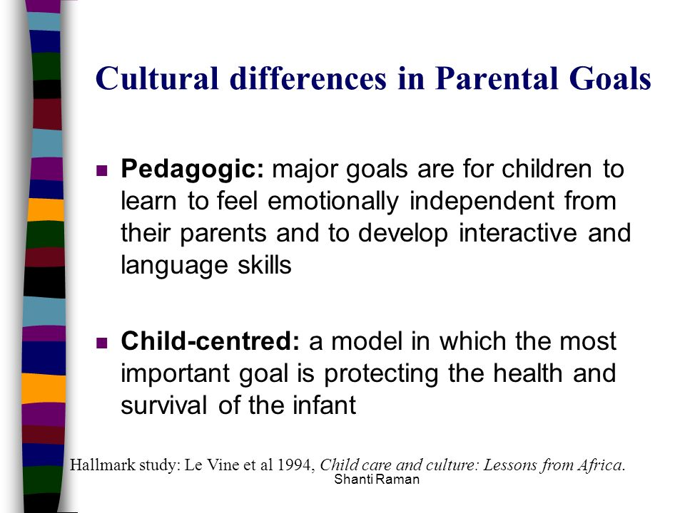 Cultural differences in Parental Goals