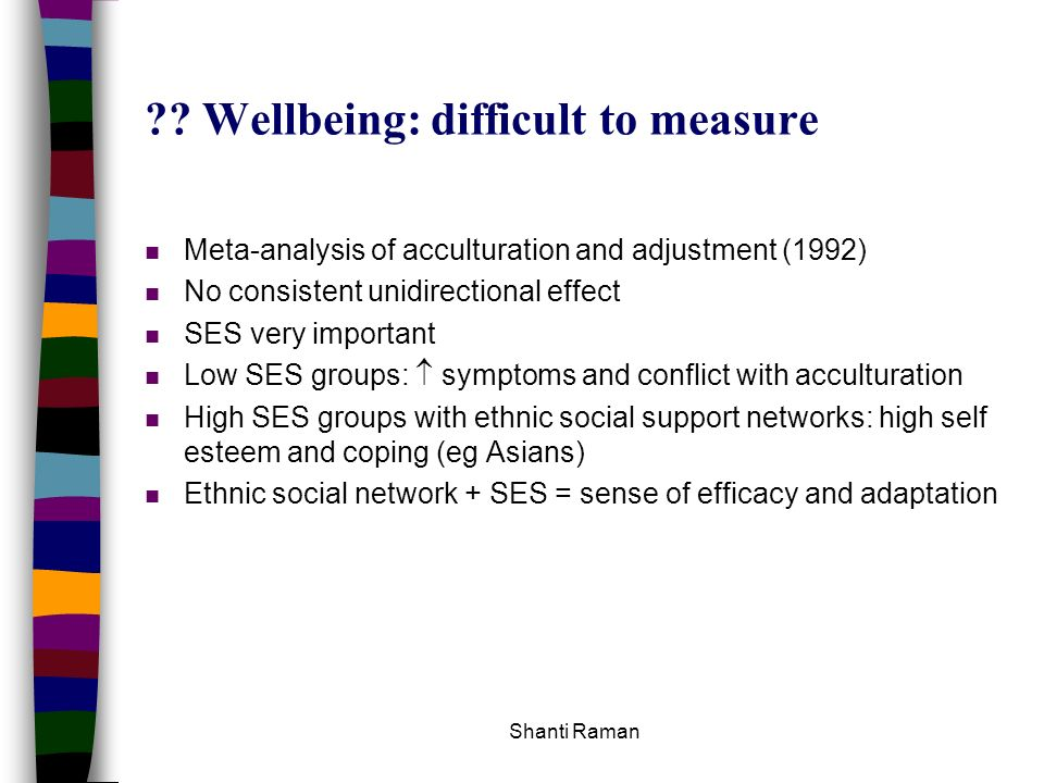 Wellbeing: difficult to measure
