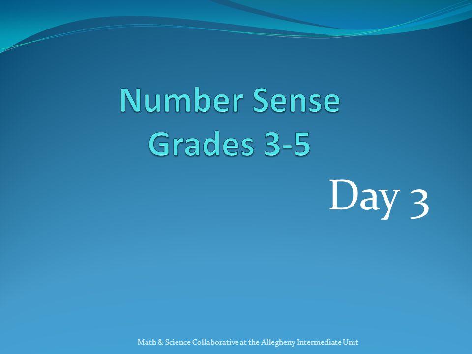 Day 3 Number Sense Grades ppt download