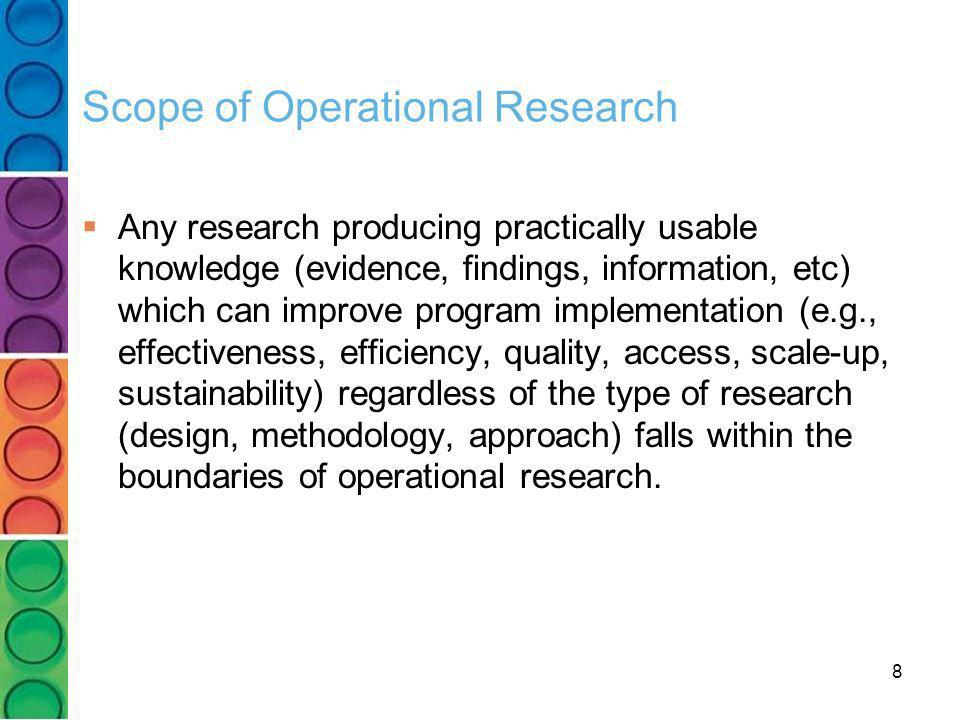 Scope of Operational Research
