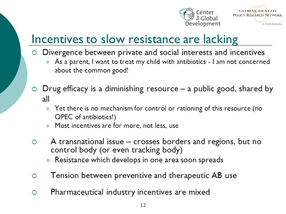 Incentives to slow resistance are lacking