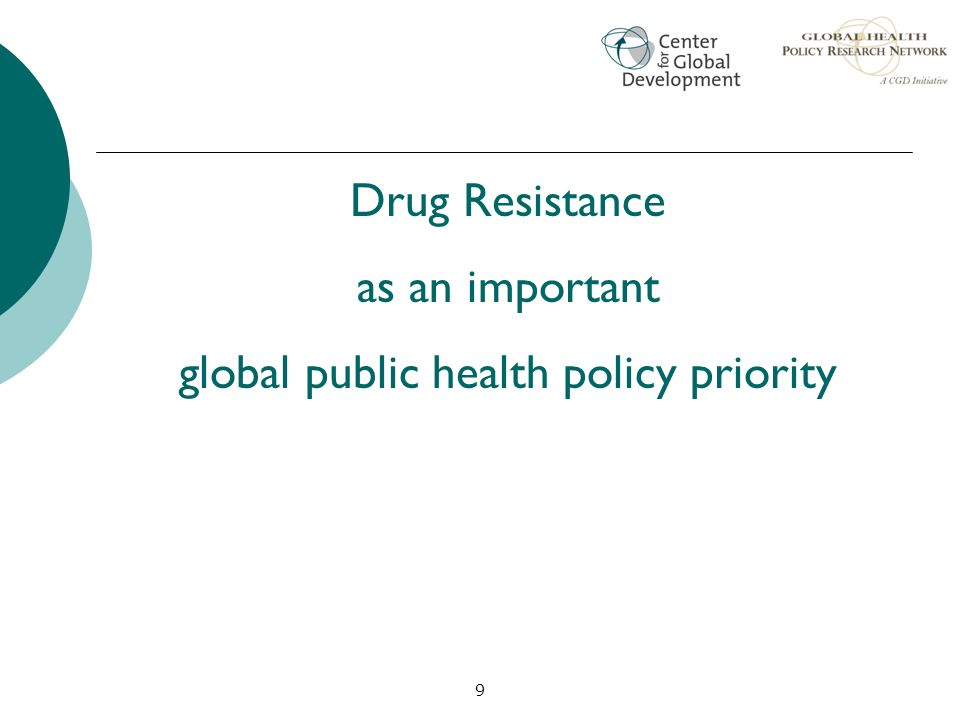 global public health policy priority